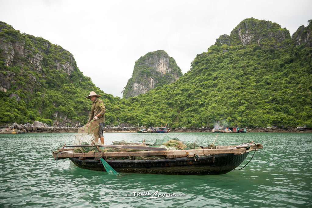 Vietnam travel fisherman